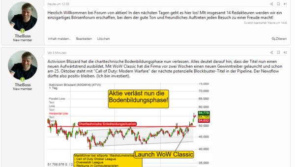 Neues Forum mit Daily Börsen-Talk und Tenbagger-Investing!
