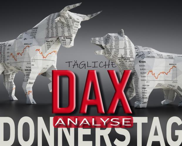 Tägliche DAX-Analyse zum 10.10.2019:  Bollinger Band fängt Korrekturbewegung auf