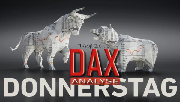 Tägliche DAX-Analyse zum 30.01.2020:  Distributionszone beendet Aufwärtsbewegung
