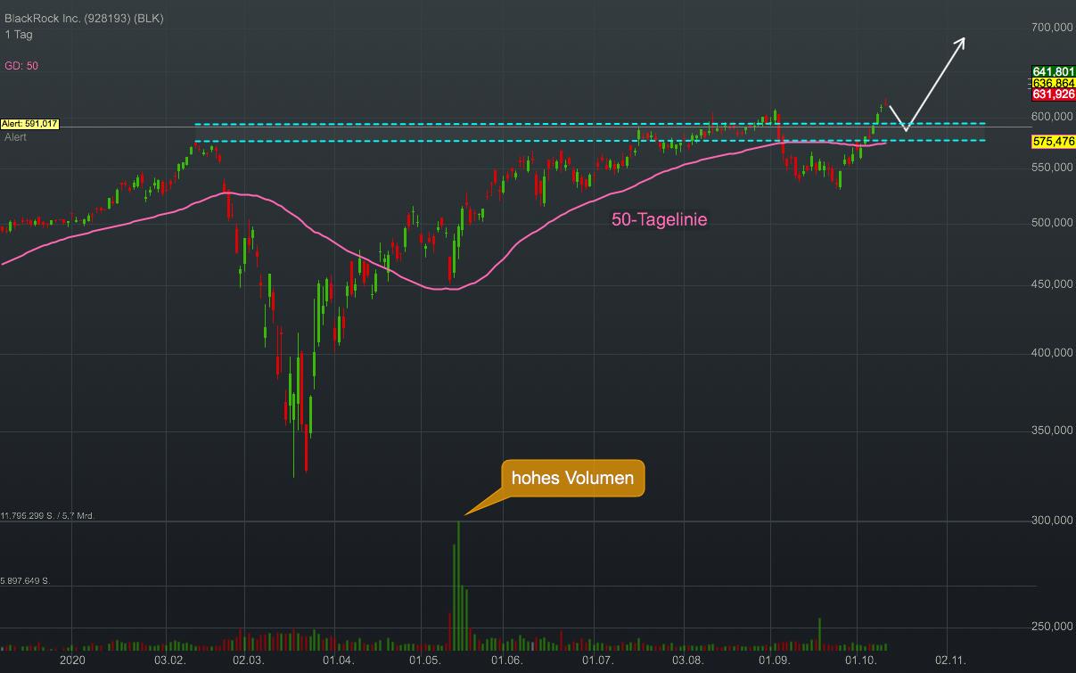 Chartanalyse BlackRock: Gerade in Krisenzeiten zieht der Finanz-Gigant Investoren aus der ganzen Welt an!