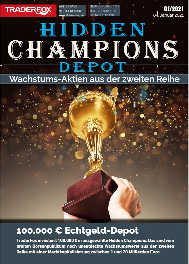 Ankündigung: 100.000 € Hidden-Champions-Depot startet im Januar 2021
