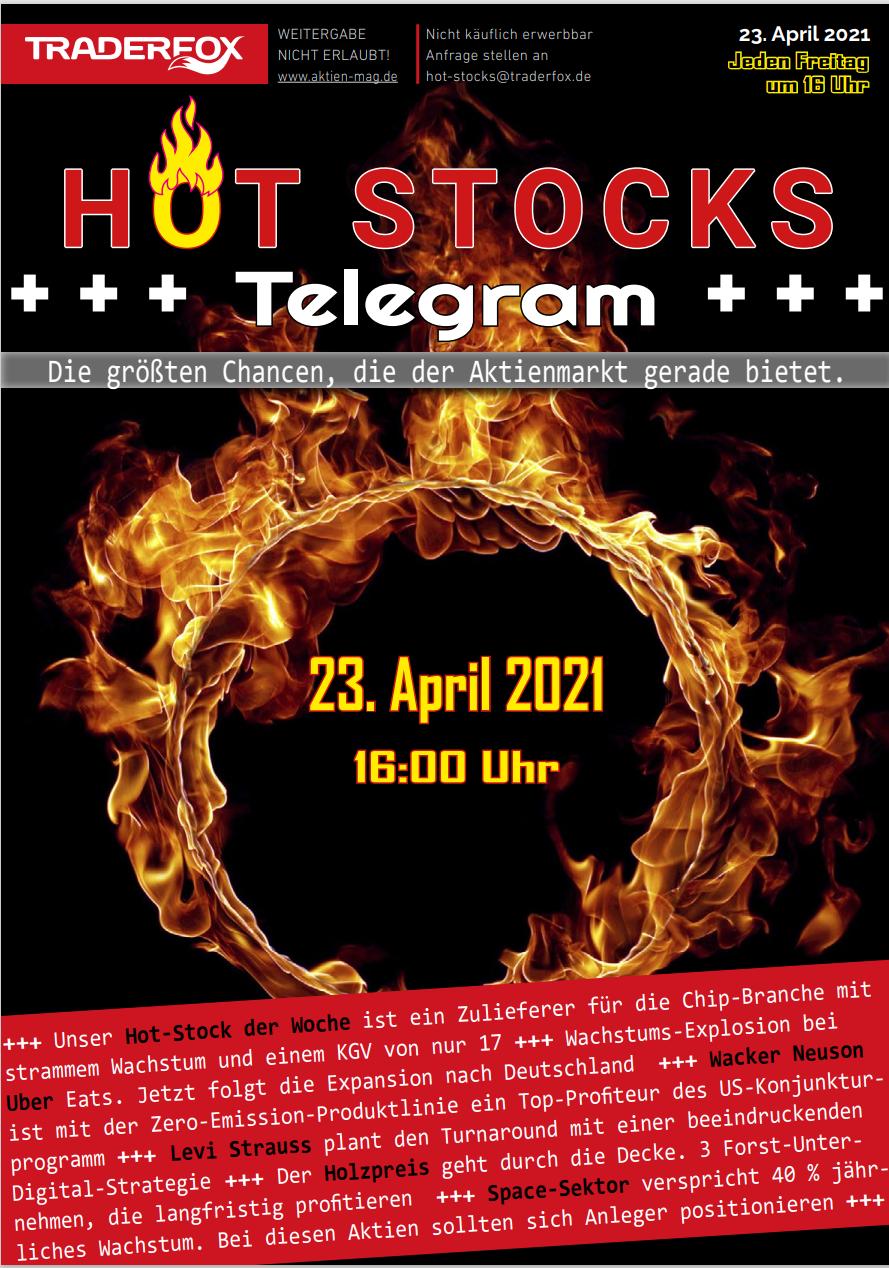 Neuer Börsendienst Hot-Stocks-Telegram: Hier ist die Erstausgabe zur Ansicht!