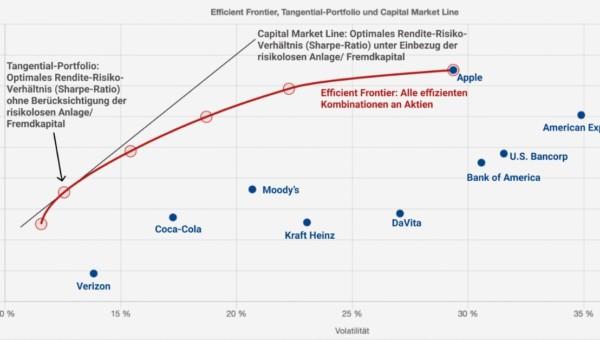 Die 10 größten Buffett-Positionen in der Markowitz-Optimierung